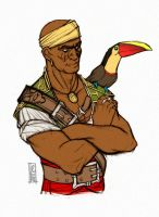 First mate with a Chestnut-mandibled Toucan by ufficiosulretro