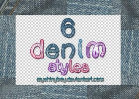 6 Denim Styles by MyShinyBoy