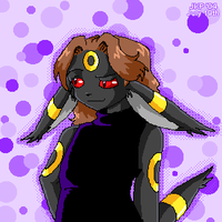 Me as an Umbreon Anthro? XD by stardroidjean