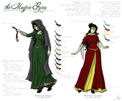 Ref. Sheet - the Magpie Gypsy by x-Silverwing-x