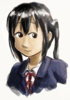 K-ON: Azusa, colored by TedChen