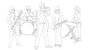 OC Rock Band -sketch- by Wakamoley