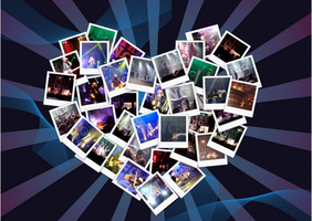 collage of pictures from a we the kings concert by minecraft1113