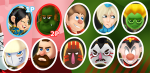 Wreck-it Fighter Character Portraits by Linkakami