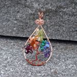 Rainbow Tree of Life Necklace by magpie-poet