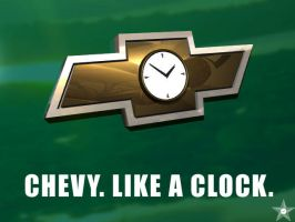 Chevy Clock by RenegadeClock