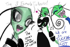 The Three Female Tallests by SilverTallest