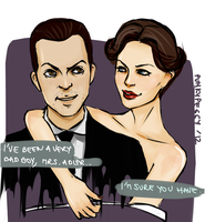 Sherlock: Irene and Moriarty by punkypeggy