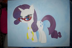 WIP Rarity painting by Blindfaith-boo