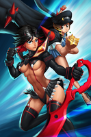 Kill La Kill Ryuko and Mako by GenghisKwan