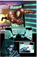 Iron Man Sample page 1 colored by wrathofkhan