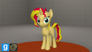 Filly Sunset Shimmer [DL] by WhiteSkyPony