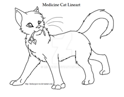 .WarriorsLineArt. Medicine Cat by LindsayPrower