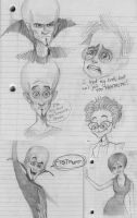 Megamind Sketchdump by trisis