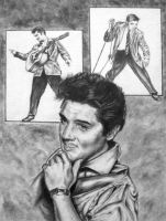 Pencil Elvis by Sartpurple