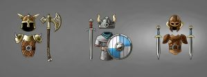 Viking weaponSet concept by TGalexTG