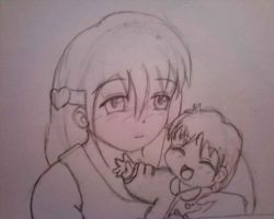 Kae and baby Raye by SailorSun18