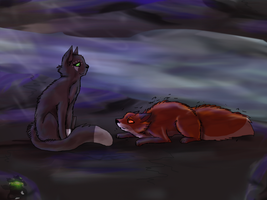 Hollyleaf and Foxcub by danituco