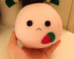 Kawaii Strawberry mochi plushie~ by Harukuma
