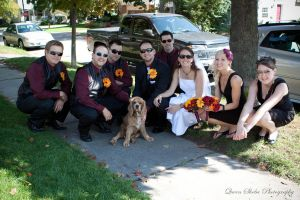Bridal Party with dog by QueenSheba24