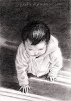Baby's First Steps: Charcoal by urchi