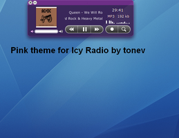 Pink skin for Icy Radio by tonev
