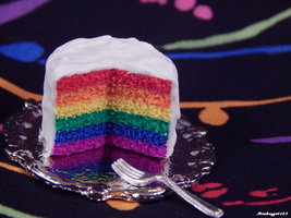 Mini Rainbow Clay Cake by Monkeygirl103