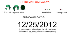 [GIVEAWAY] Christmas mixed hair + Eye contacts by CherryKokoroPromise