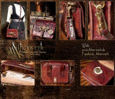 shoulder bag of the Timelord or Timelady by Aetherwerk