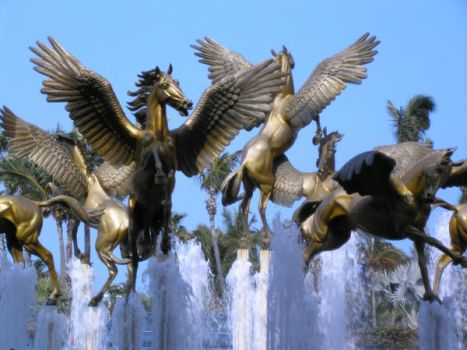 pegasus fountain 1.7 by meihua-stock