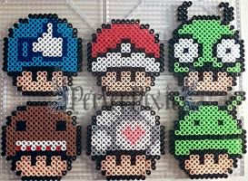 Random Mushrooms 1 by PerlerPixie