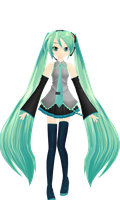 Miku Texture edit -WIP 1- by NoUsernameIncluded