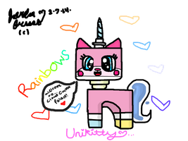 Unikitty Fan art by JordanoXx