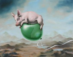 Pig Lift by LindaRHerzog