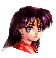 Sailor Mars Portrait by E-X-P-I-E