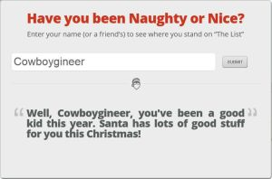 Cowboygineer is on the Nice List! by Cowboygineer