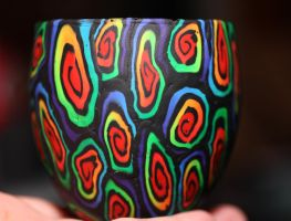 Rainbow Chaos Candle Holder by SpawnedImages