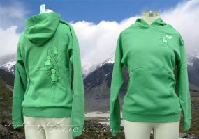 .kiwi ski - green hoody. by guava
