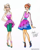 Frozen Fashion 2 by angelaaasketches