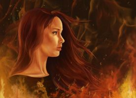 The Girl on Fire by atlantiss505