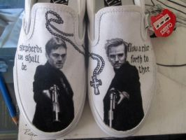 Boondock Saints on Vans shoes. by RockabillyReese