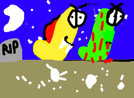 Vampire Worm and Zombie Worm by ThomasOrionoGamer