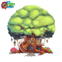 No Zombies Allowed Tree House by frogbillgo