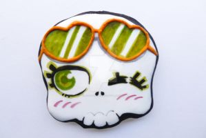 halloween chocolate cookie skull fashion girl by ALI-MALBICHO
