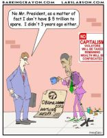 Beggar President Obama Cartoon by Conservatoons