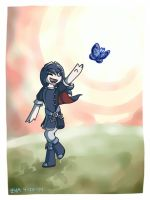 Butterfly Chase by ars-autem-lux