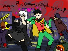 late bday pic  OoNightingaleOo by nesilverwing