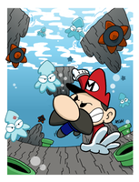 Mario takes a Swim by PanzerBanana
