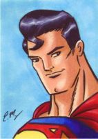 Superman Sketch Card by em-scribbles
