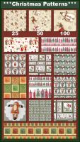 Christmas Patterns by Tetelle-passion